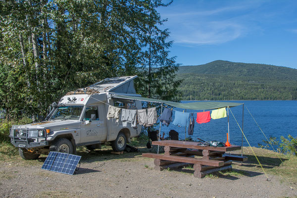 Traumhafte Campsite am Quesnel Lake