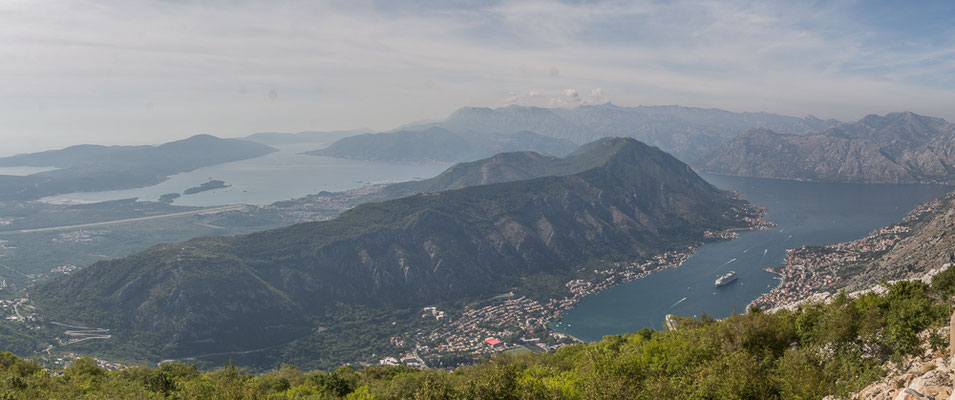 Aussicht auf die Bucht von Kotor