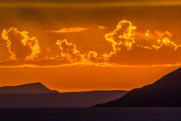 Sonnenuntergang auf dem Salar