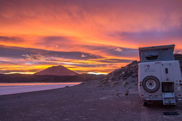 Camp an der Laguna Negra