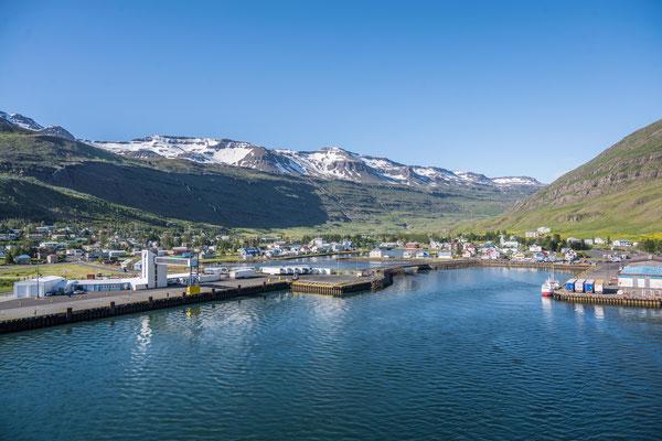 Ankunft in Seyðisfjörður