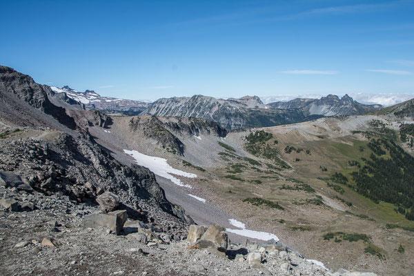 Blick nach Norden am Wonder Trail entlang