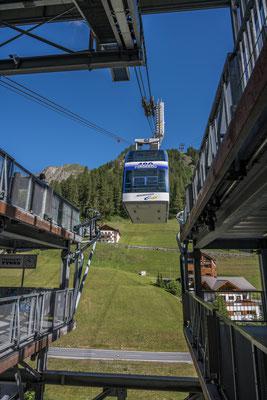 Seilbahn auf den Alp Trider Sattel
