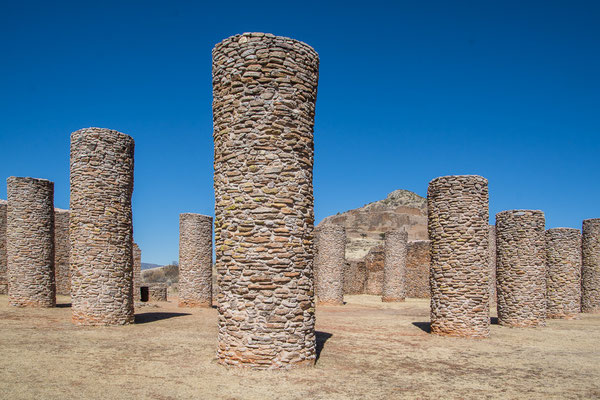 Die Säulen des dazumal grössten, überdachten Gebäudes von Amerika