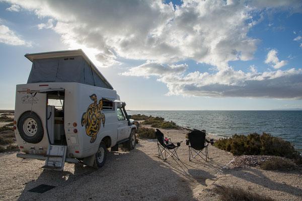 Camping an der Bahia San Ignazio