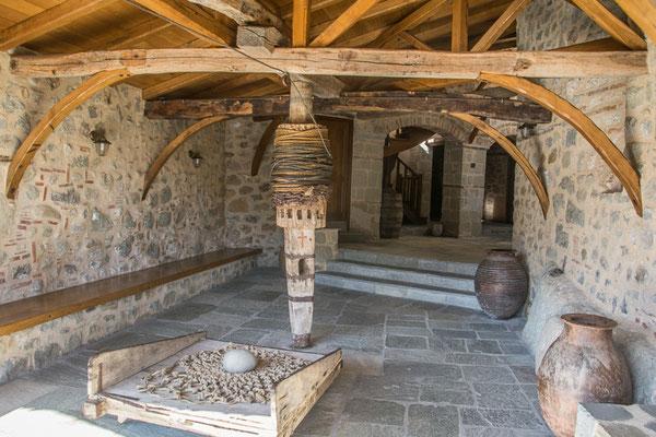 Winde zum Heraufbefördern von Mensch und Ware, Kloster Agia Triada