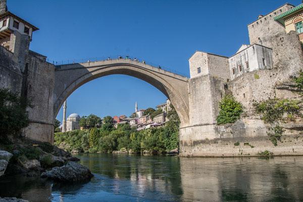Die berühmte Brücke in Mostar, Bosnien und Herzegowina