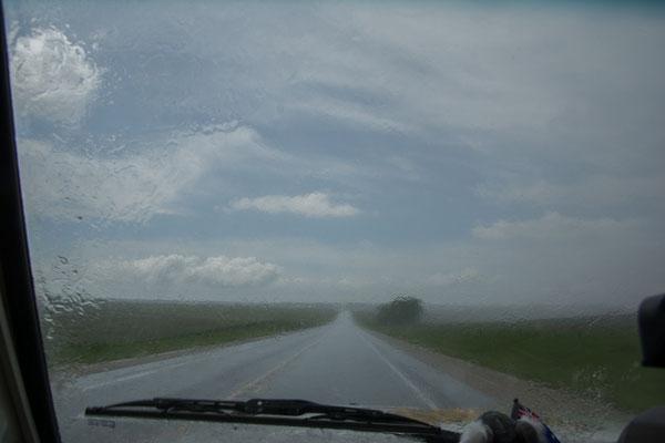 Unterwegs in eine Gewitterfront sondergleichen