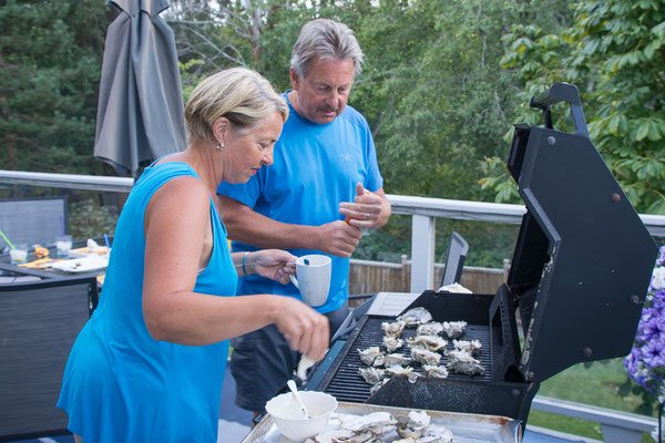 The Grillmaster and assisstant