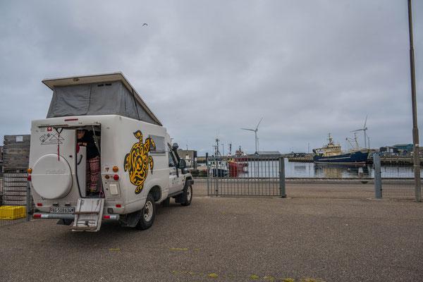 Camp am Hafen von Hvide Sande (DK)