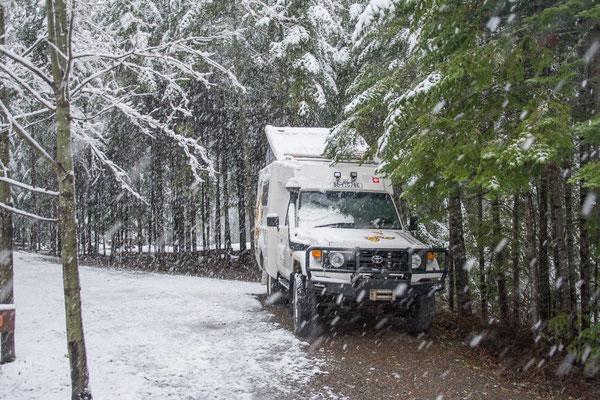 Überraschung, nach 61 Jahren wieder mal Schnee an Uelis Geburtstag