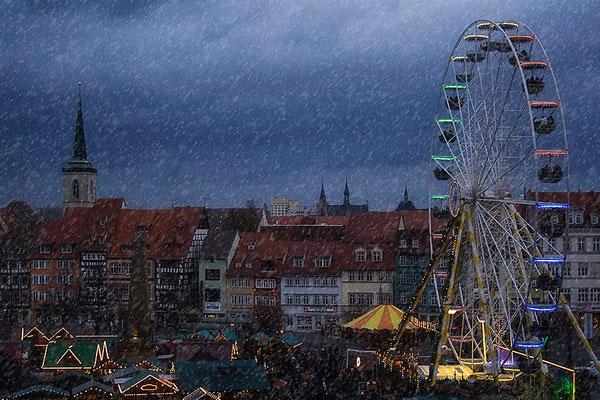 Schneetreiben / Erfurt - © Helga Jaramillo Arenas - Fotografie und Poesie / Dezember 2013