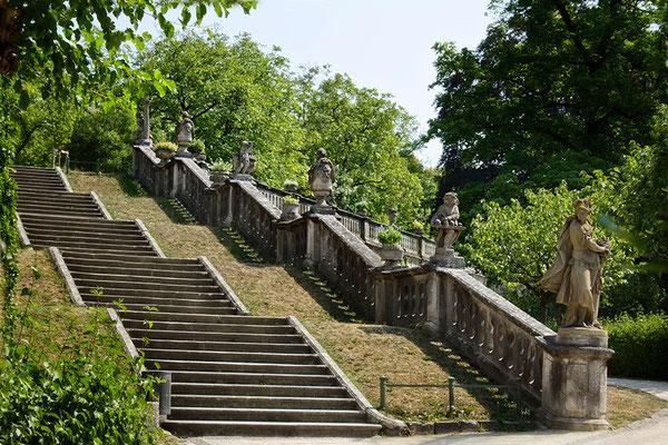 Fürstliche Aufgänge / Würzburger Schloßgarten - © Helga Jaramillo Arenas - Fotografie und Poesie / August 2015