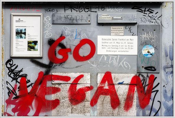 GO VEGAN - © Helga Jaramillo Arenas - Fotografie und Poesie / April 2019