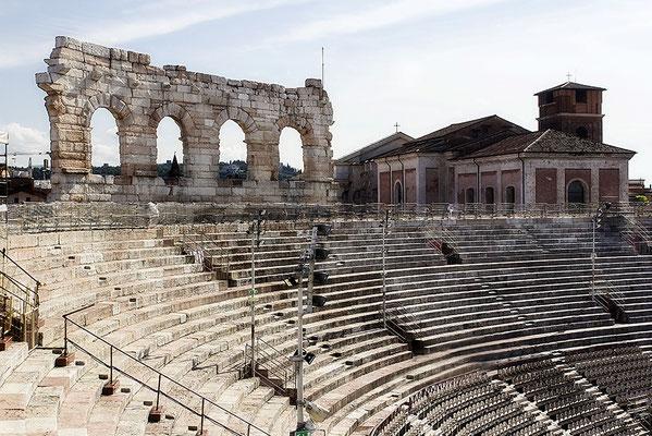 Von Innen besehen / Arena di Verona - © Helga Jaramillo Arenas - Fotografie und Poesie / Juni 2018