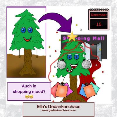 In Shoppinglaune an Weihnachten