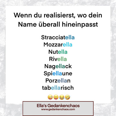 Wo mein Name überall drinsteckt
