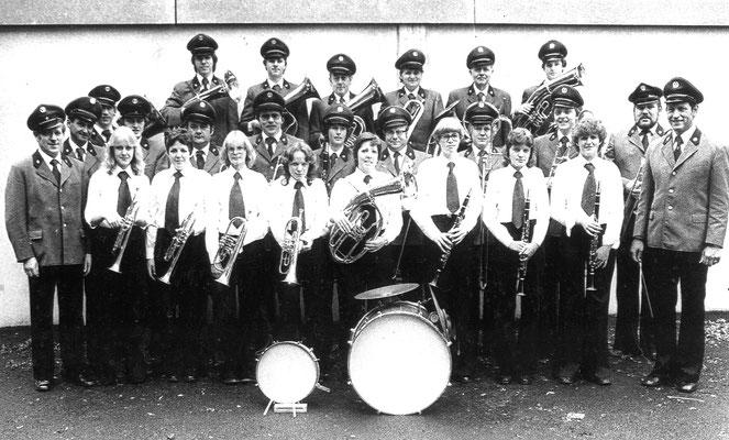 Musikverein - Ende der 70er Jahren unter Dirigent Heiner Schrage