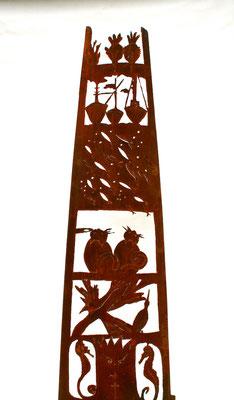 Nettuno - mat. corten, scala fantastica h. 200 cm.
