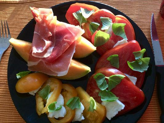 Salade estivale - Table d'hôtes Domaine de Joreau, chambres et tables d'hôtes, Saumur, Val de Loire