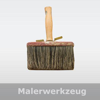 Roller und Pinsel, Streichbürste, Malerwerkzeug