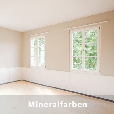 Silikatfarbe, Mineralfarbe, Minergie ECO, Umweltetikette A