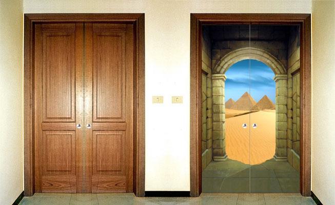 Porte dipinte a mano Bari - Giuseppe Cantatore artista pittore italiano