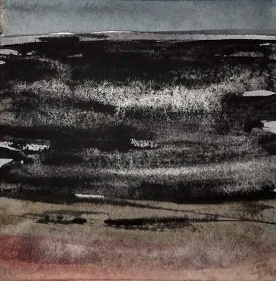 """avond licht"" no.5, aquarelle on aquarelle paper"