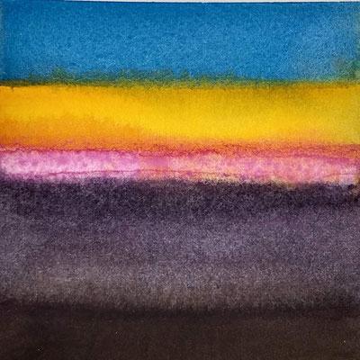 """avond licht"" no.6, aquarelle on aquarelle paper"