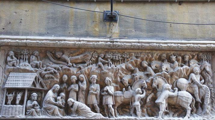 Genua, Altstadt Türstock, Christi Geburt
