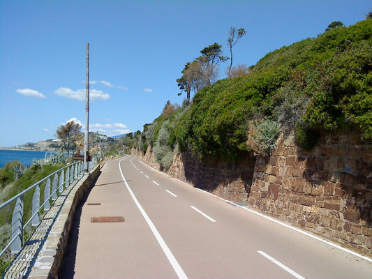 Riviera di Ponente Küstenradweg