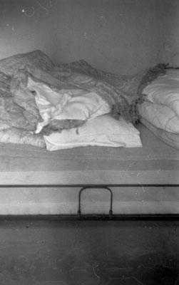 Bett 1973, das 30 Jahre zuvor verlassen wurde