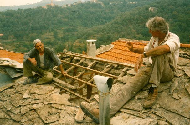 Albert Obermüller und Angelo Rebutato um 1986