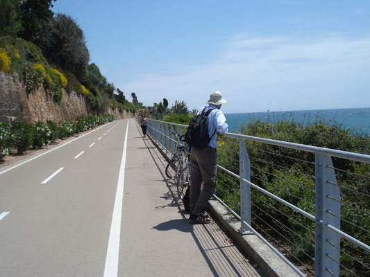 Albert Obermüller am Küstenradweg