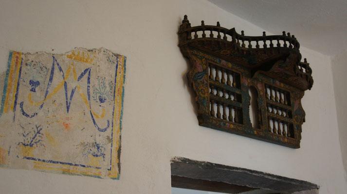 Ferienwohnung Dolcedo: de Sonnaz II, Wandmalerie und Turbanständer