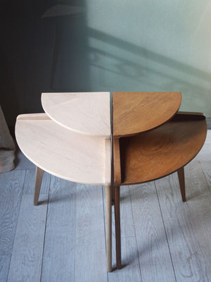Tables d'appoint duo en chêne massif