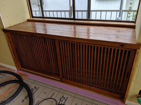 収納スペース塗装