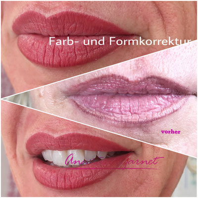 Korrektur von Permanent Make-up