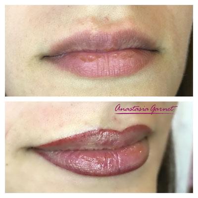 Lippepigmentierung mit Kontur
