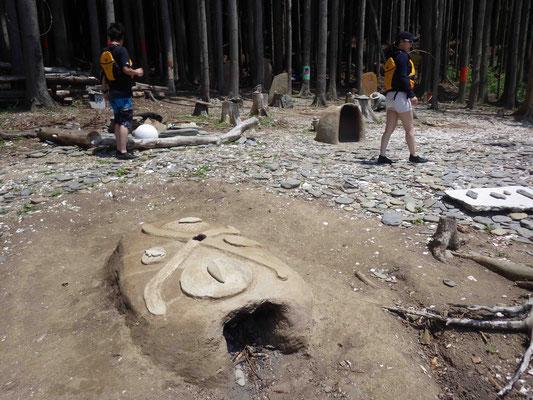 浜の素材を使った作品が多くあります。