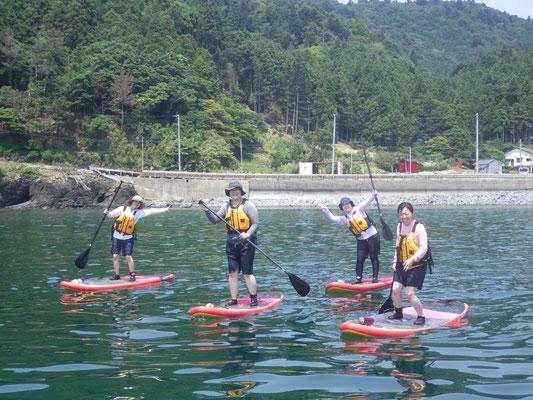 みんな揃って立ち漕ぎ練習