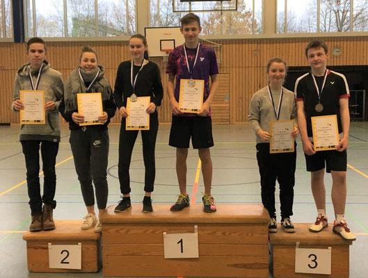 2. Platz im Mixed U17: Tobias Niebler mit Greta Neve/TSV Wolfstein