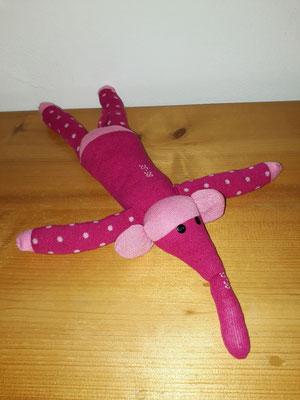 Sockenelefant, pink mit rosa