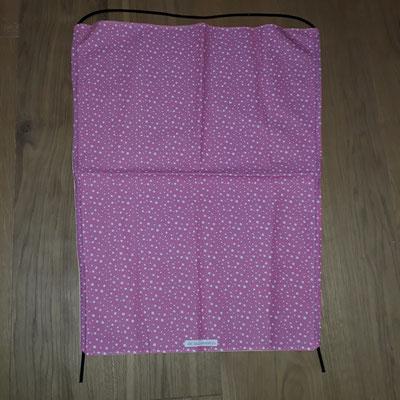 Sonnensegel Kinderwagen, rosa mit Punkten
