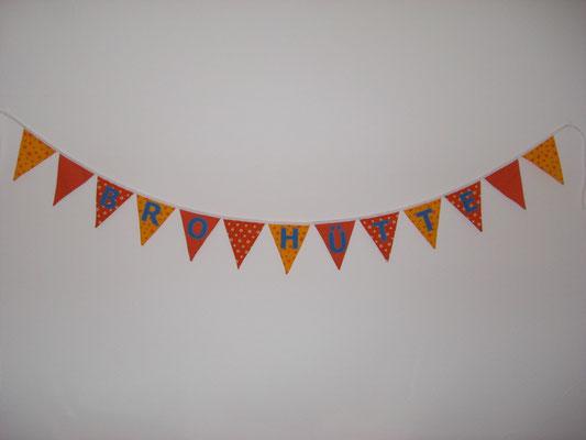 Beispiel: Wimpelkette mit Namen