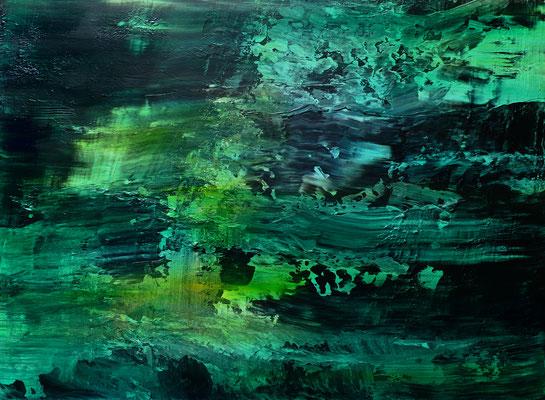 """Jade III"" Acrylic and Oil on Canvas 55x75cm 2020"