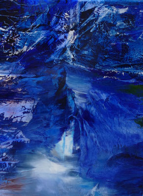 """Stille"" Mixed Media on Canvas 70x90cm 2020"