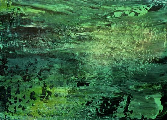 """Jade II"" Acrylic and Oil on Canvas 55x75cm 2020"