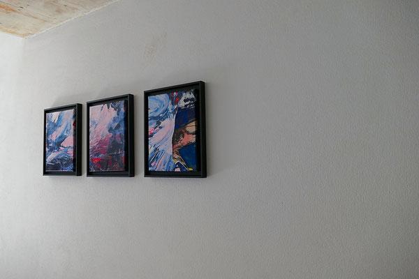 INSIDE OUT Soiree Contemporary art and music performance Hiroka Matsumoto Violine, Yurie Matsumoto Piano, Erzsebet Nagy SAAR Paintings FILMQUARTIER WIEN Silent Loft 2018