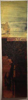 Pollenflug | 280 x 57 cm | Tuschen und Scherenschnitt auf handgeschöpftem Papier